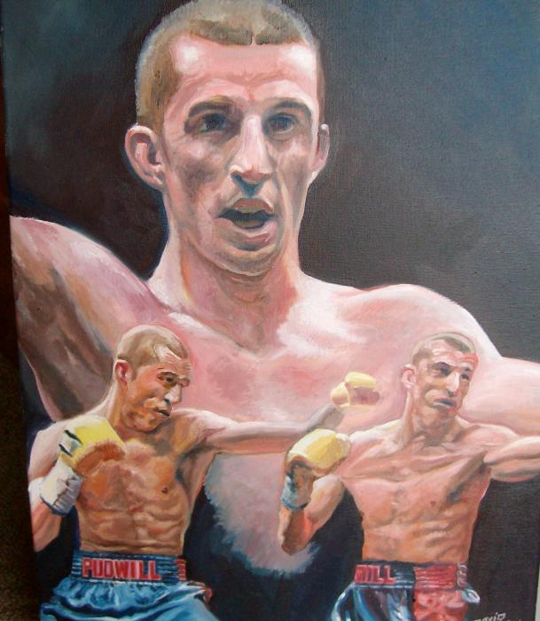 Boxing Image 1, 2013, Oil on canvas.