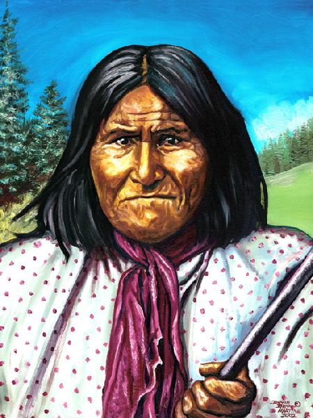 Geronimo 2. This is taken from the earliest known image of Geronimo during the 1800`s. He was a war-leader and medicine-man of the Chiricahua Apache Tribe of Indians whose homelands were in southeastern Arizona and northern Mexico. He was a proud Native American.
