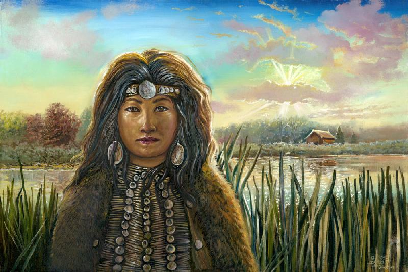 The Shaman. A Native American Shaman.<br /><br />The original of this image is an oil on canvas, unframed, $2000 plus the shipping charges. For more information contact the artist.