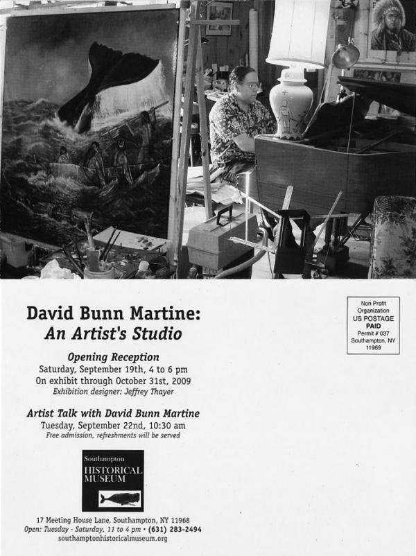 The artist's studio exhibit