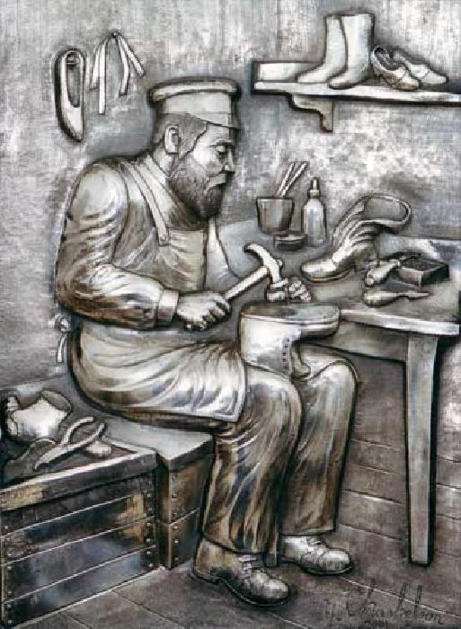 The Shoe Maker  /Silver Art (Y. Chaskelson).