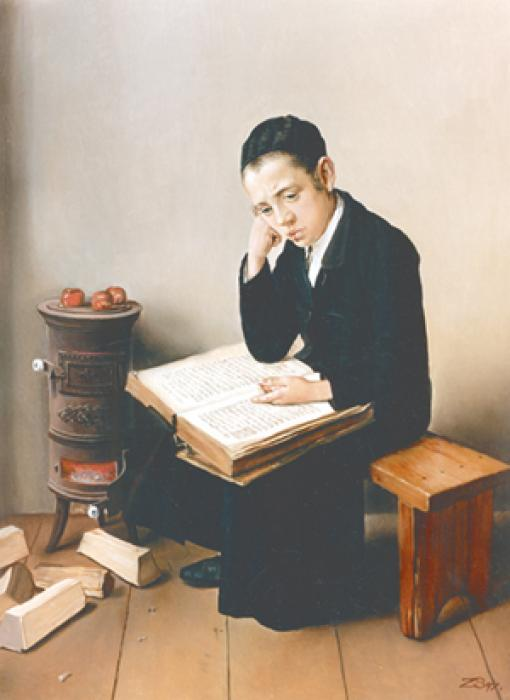 Child with Scriptures  ##2545  (Stephan Zanger after Isidor Kaufman).