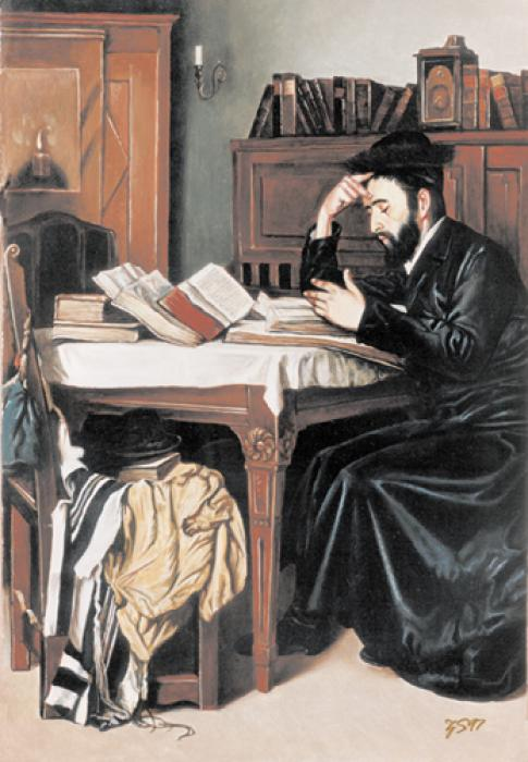 Toil in Torah #2548  (Stephan zanger after Isidor Kaufman).