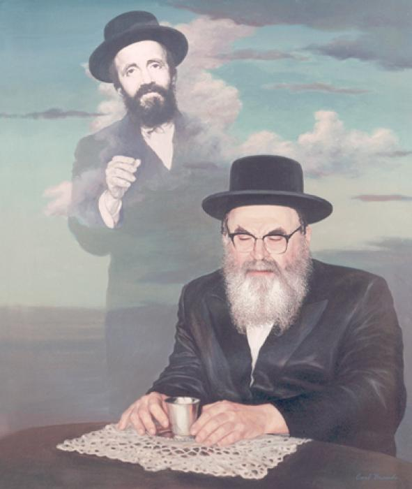 Skverer Rebbe and his Father #4272   (Carl Braude).