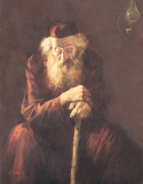 Old Jew with Stick #7521  (Theodor Tolby).