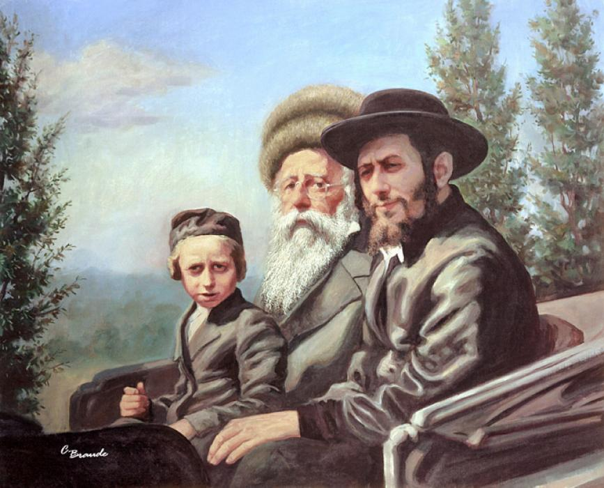 Bobov Three Generations #9116  (Carl Braude).