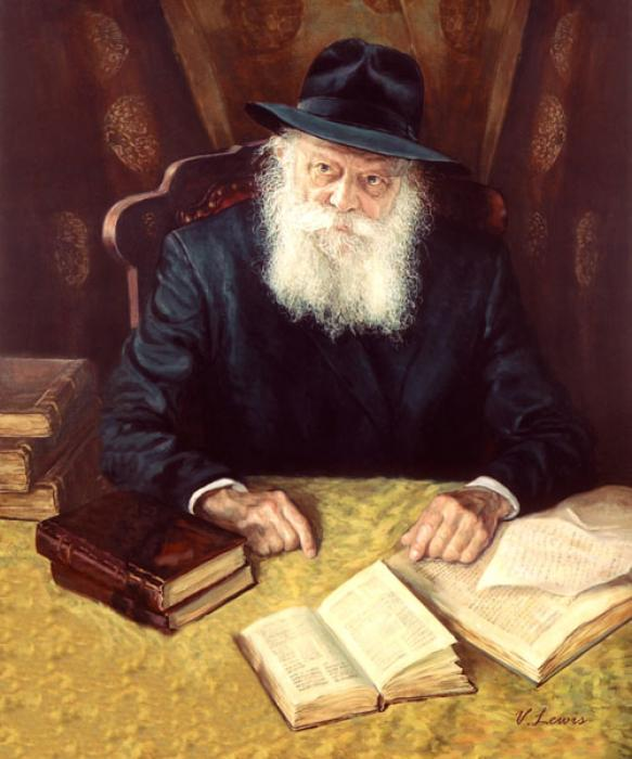 Lubavitch Rebbe in Study Room #9131  (Stephan Zanger).