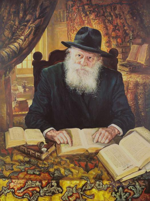 Lubavitch Rebbe in Study Room2 #9153  (Stephan Zanger).