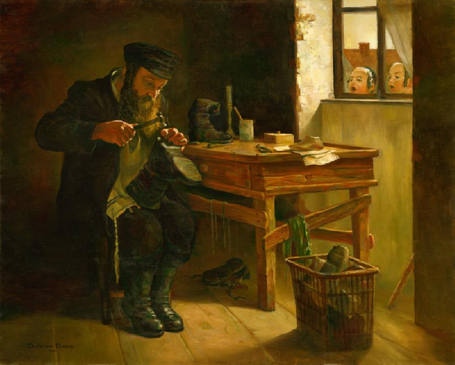 The Shoe Maker #BD1049   (Boris Dubrov).