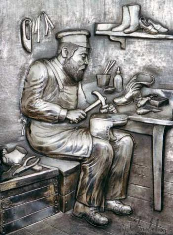 The Shoe Maker  /Silver Art (Y. Chaskelson)