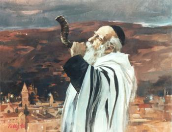 Shofar in Jerusalem  #3378  (Theodore Tolby) by Jerusalem
