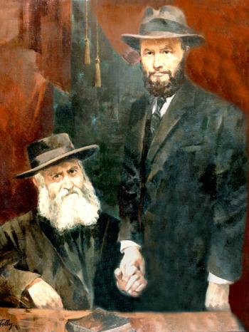 Lubavitcher Rebbe(younger years)with Maharyatz #4226  (Theodor Tolby)