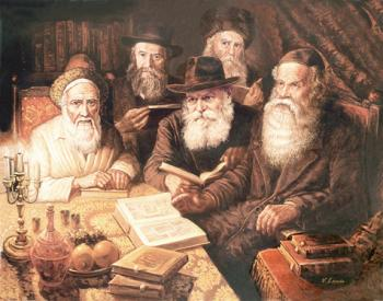 Lubavitch Rebbes Learning #4271  (Carl Braude) by Rabbis