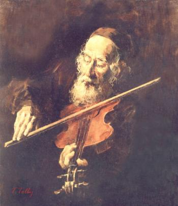 The Violin player  #7522  (Theodor Tolby) by Simcha/ Happiness