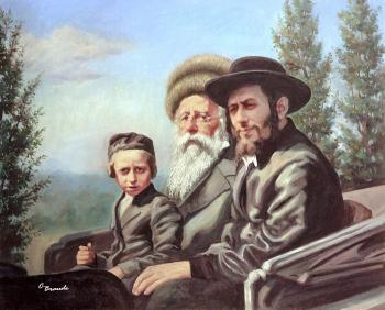 Bobov Three Generations #9116  (Carl Braude) by Rabbis