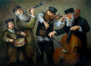 Joy in the village #BD1043  (Boris Dubrov) by Simcha/ Happiness