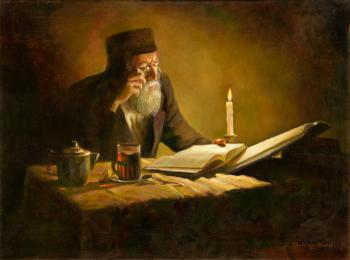 The Rabbi Learning #BD1050   (Boris Dubrov) by Jewish Life
