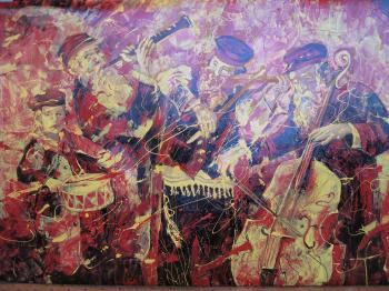 Klezmer Modern Art #BD1017  (Boris Dubrov) by Abstract/ Modern Art