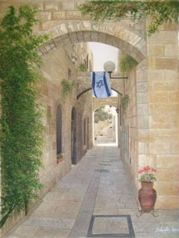 Jerusalem Alley (Yehuda Dann) by Jerusalem