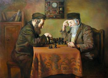 The Chess Game #BD1032 (Boris Dubrov) by Jewish Life