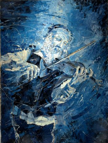 Violin Player Modern Art  #BD1022  (Boris Dubrov) by Abstract/ Modern Art