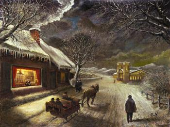 Winter Night by Jewish Life