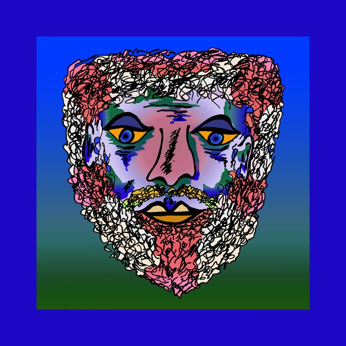 Bearded Man - color 2. Available in museum quality canvas or fine art paper. Pricing upon request.