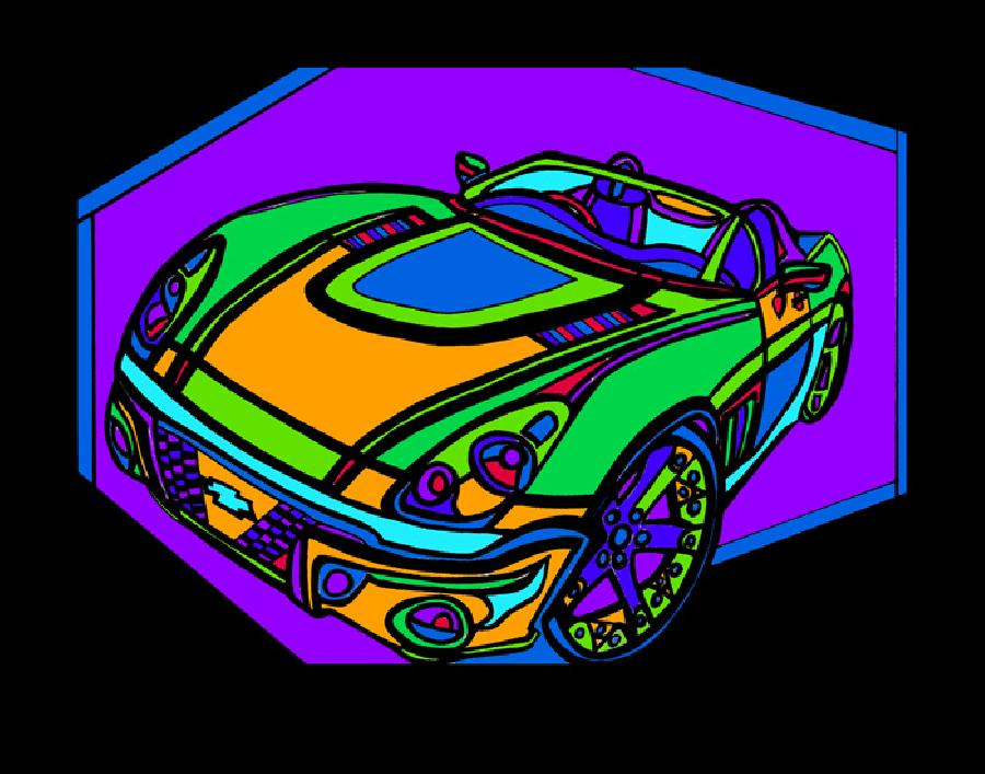 The Classic (car 2 - color 3). Available in quality fine art paper and museum quality canvas. Pricing upon request. 11 x 17