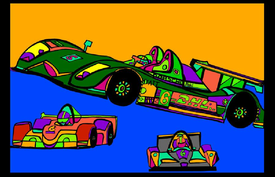 Indi Race Car (car 3 - color 3). Available in quality fine art paper and museum quality canvas. Pricing upon request. 11 x17
