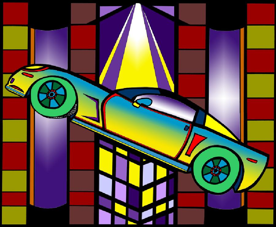 Corvette 2 - Color 1. An exciting and colorful rendition of the corvette. Pricing upon request.