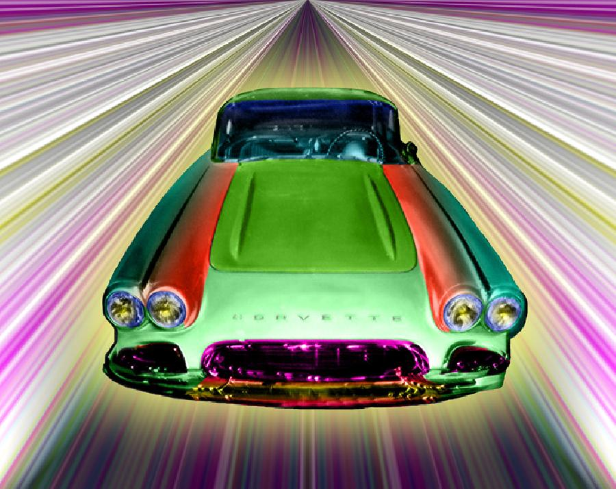 Corvette color-1. Available in museum quality canvas and fine art paper. Pricing upon request.