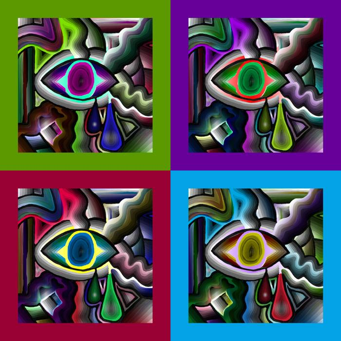 Watching You -all in one- # KF-1. Available in museum quality canvas. Gallery wrapped with 1 1/2 inch bars. Order in museum quality fine art paper.