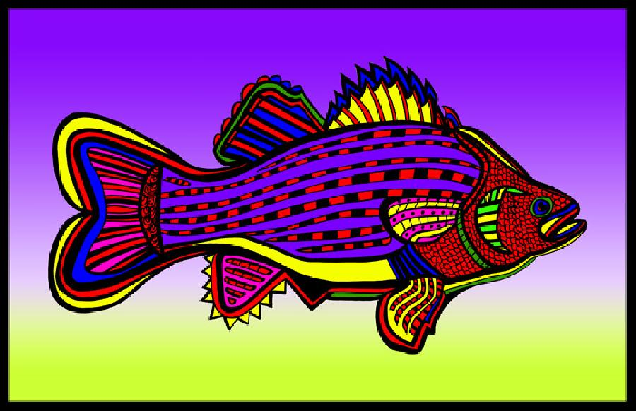 Porgy (Fish 6 color 1). Pricing upon request. 11 x 17