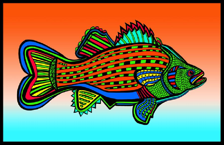 Porgy (Fish 6 color 2). Pricing upon request. 11 x 17