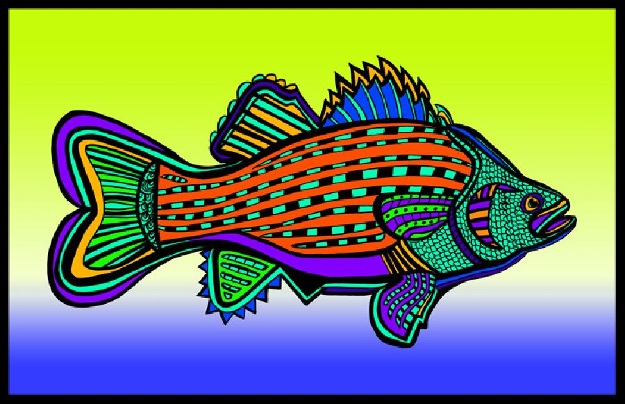 Porgy (Fish 6 color 3). Pricing upon request. 11 x 17