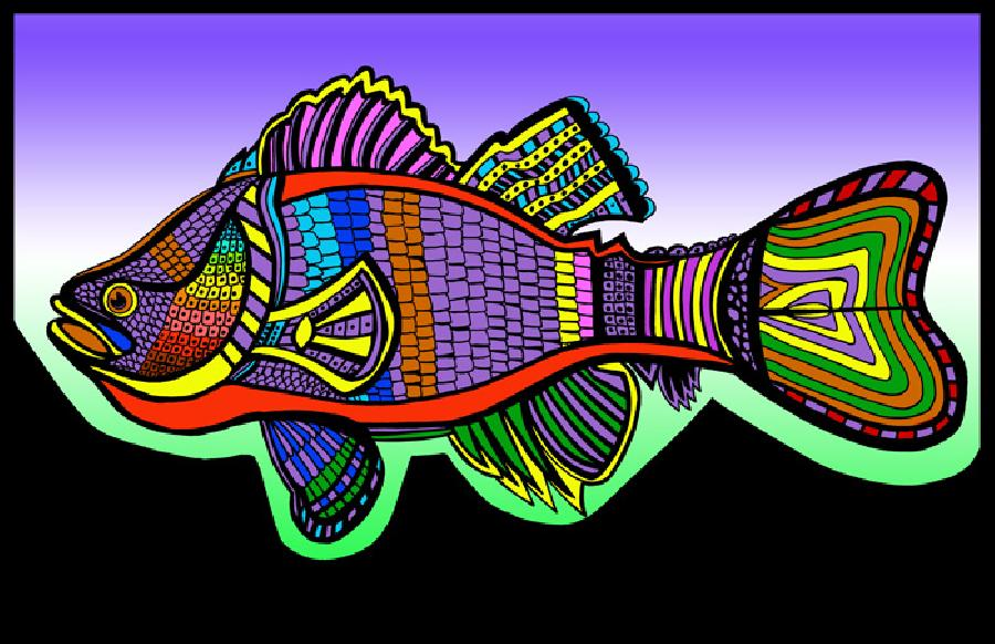 Sea Bass (Fish 7 color 1). Pricing upon request. 11 x 17