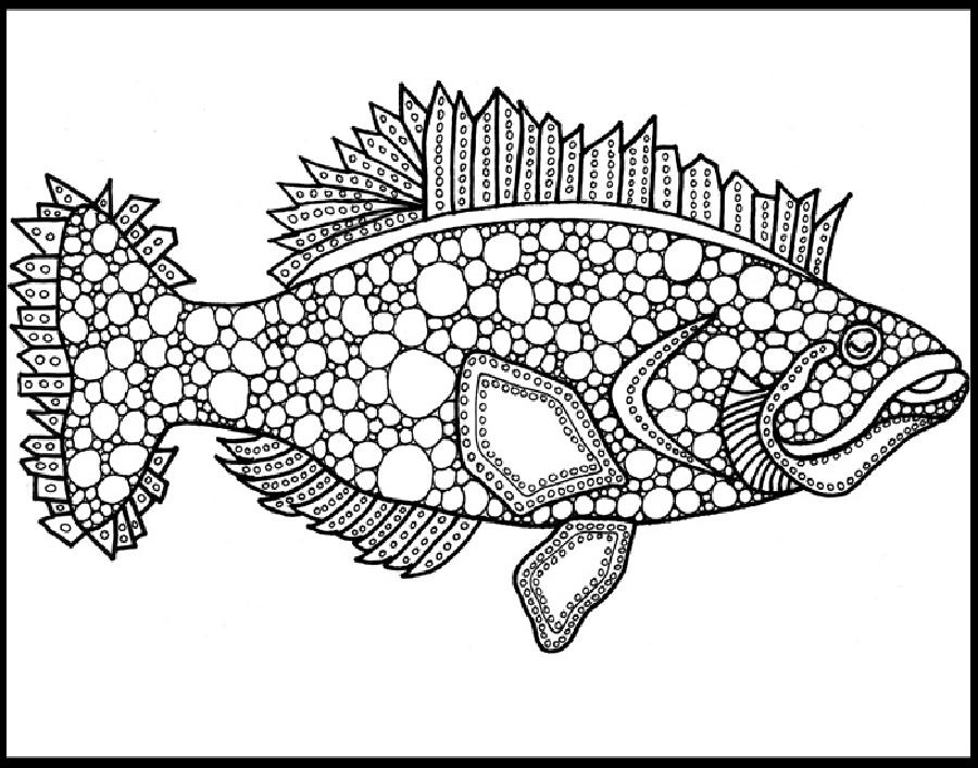 Fluke (KFish1). The last of black and white designs in this unique style. Two or three of these designs make for an attractive wall arrangement.