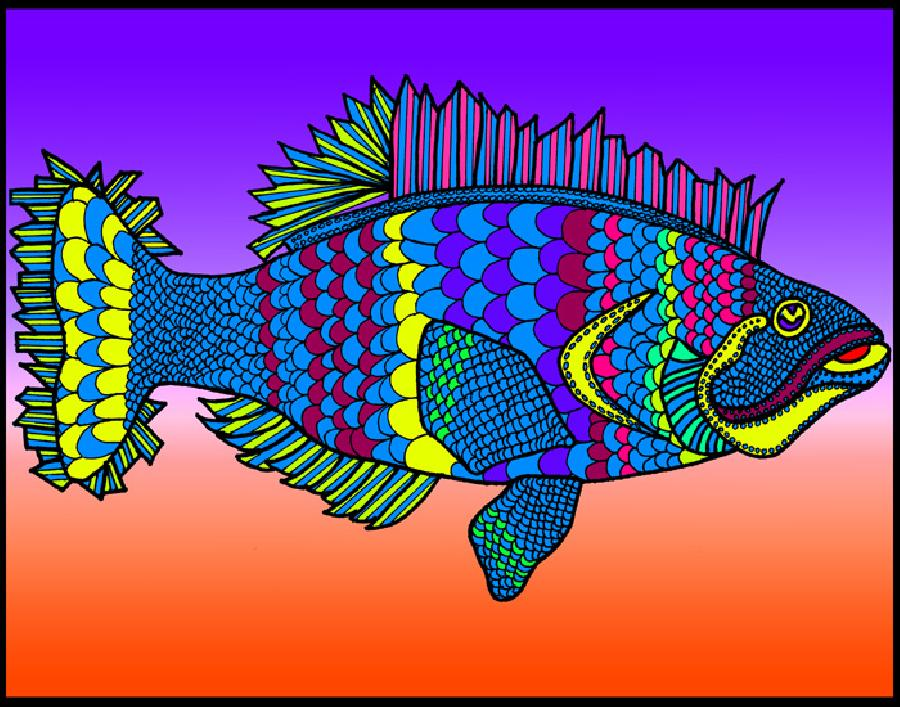 Flounder (KFish 2 - color 3). Pricing upon request. 11 x 14 or 16 x 20. Vibrandt colors. Available in Museum quality canvas or fine art paper.