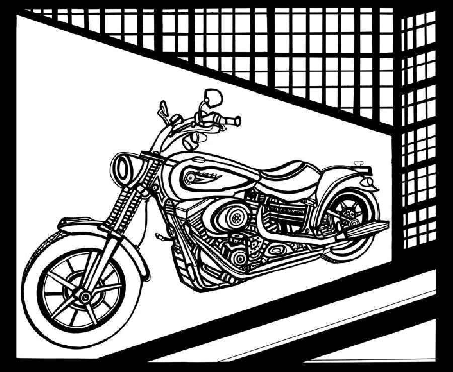 Motorcycle 1 Blk & White. For the motorcycle enthusiast. Pricing upon request.
