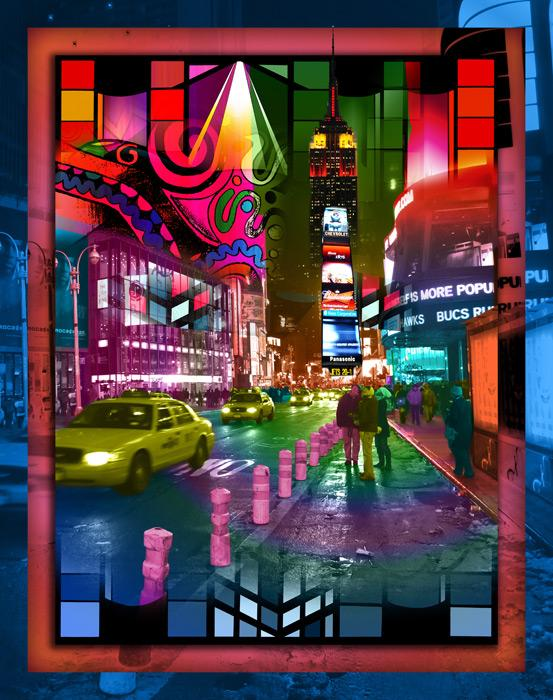 Times Square-color-1. Times Square. Available in museum quality canvas and fine art paper. Pricing upon request. 16 x 20