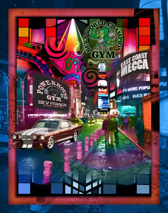 Times-square-color-1-Power House GYM. Corporate Clients are always welcomed. We specialize in Corporate assignments with creative twists. All custom orders can be completed in one to two weeks.