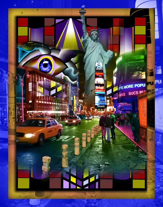 Times Square-color-2. Times Square. Available in museum quality canvas and fine art paper. Pricing upon request. 16 x 20
