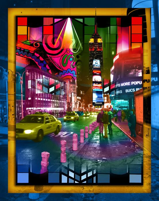 Times Square - color 3. Pricing upon request. 11 x 14 or 22 x 28