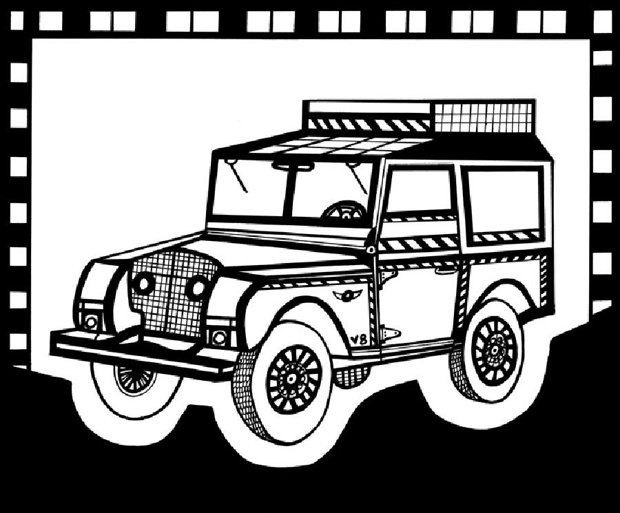 Safari Truck 2 Blk & White. Available in fine art paper or museum quality canvas. Pricing upon request.