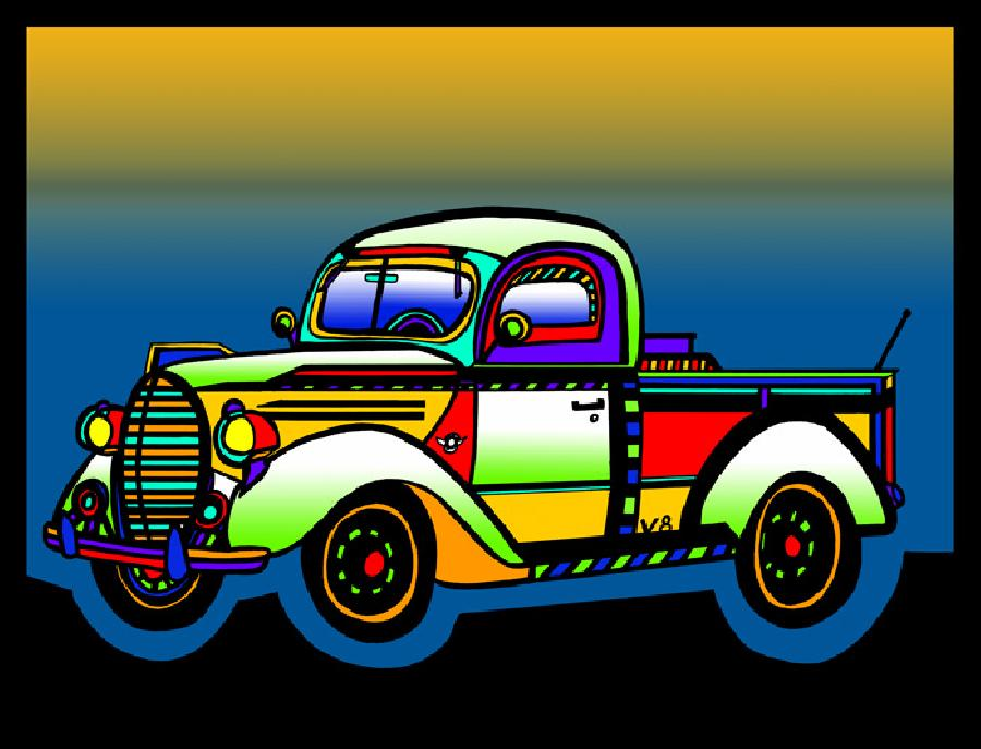Vintage Truck - color 2. Pricing upon request. Select fine art paper or museum quality canvas.