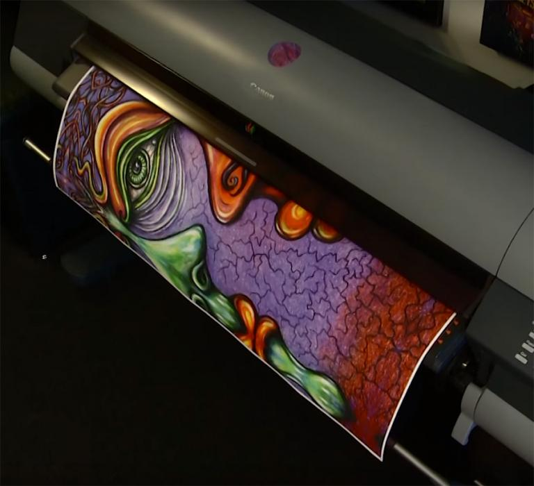 Giclee Printing for Fine Art, Reproduction of an original artwork