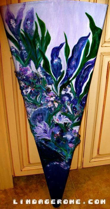 Purple Iris. Original only. Series available.
