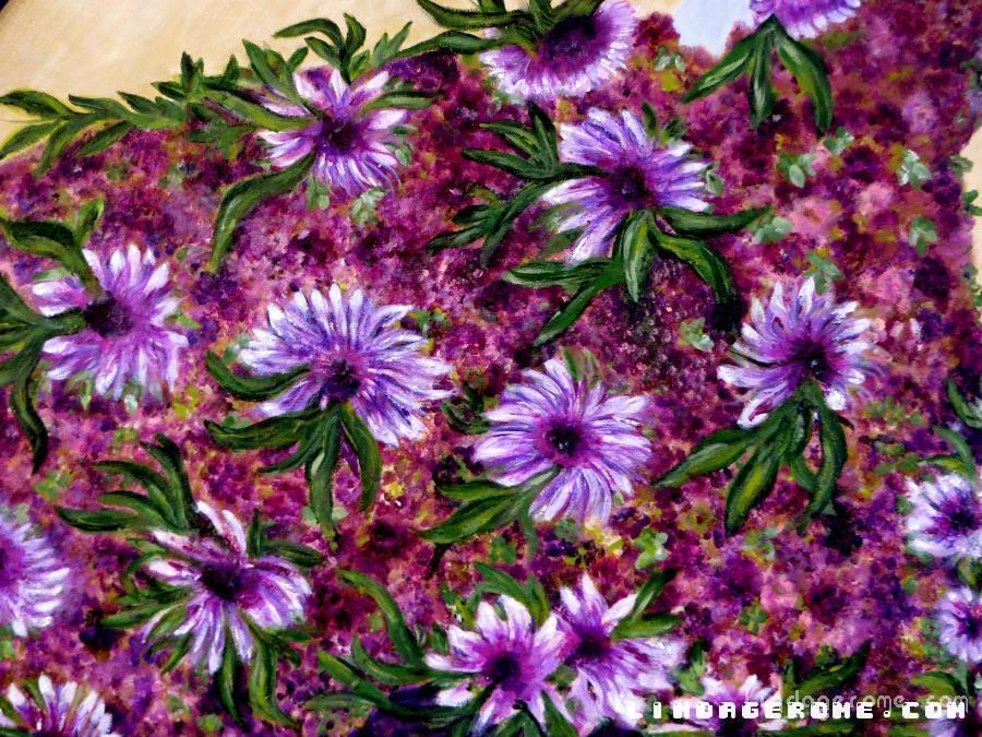 Flower Power in Purple. Available in Giclee only. Many sizes to choose from.