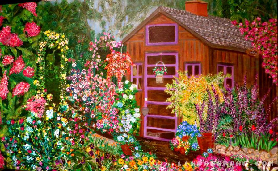 Country Garden. giclee available in large sizes. Original priced to sell.