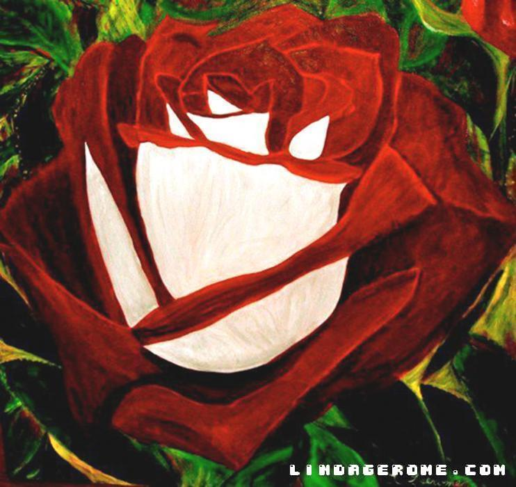 Red Rose. Painted during Hurricane Sandy. Sizes available in Giclee.